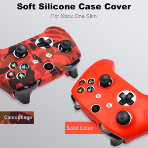 Image 5 - For Xbox One X S Controller Gamepad Camo Silicone Cover Rubber Skin Grip Case Protective For Xbox One Slim Joystick