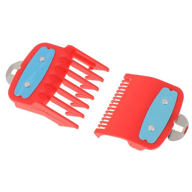 세트 1.5 및 4.5 Mm 크기 붉은 색 첨부 빗 세트 전문 클리퍼 2Ppcs (1.5mm + 4.5mm) 가이드 빗