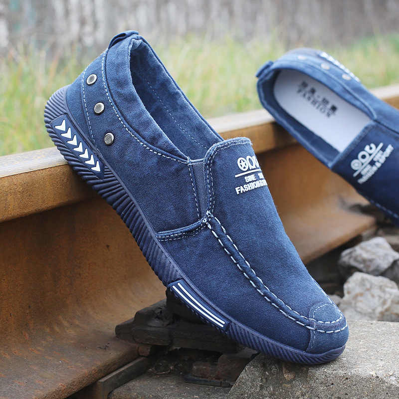 Canvas Men Shoes Denim Lace-Up Men Casual Shoes Plimsolls Breathable Male Footwear Spring Autumn Sneakers  2019 New
