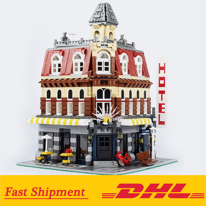 Cafe Corner 15002 Model Building Blocks Bricks Compatible with Legoings 10182 City Street View Bricks Toy for Children 1