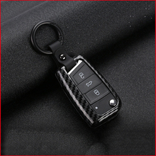 lsrtw2017 carbon fiber Zinc alloy car key case for volkswagen tiguan t-roc vw sharan touran touareg golf jetta mk6 polo Scirocco