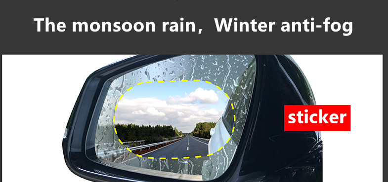 Auto Accessories 2Pcs Car Rear Mirror Protective Film Anti Fog Window Clear Rainproof Rear View Mirror Protective Soft Film