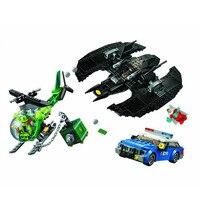 Bela 11352 513Pcs Batman Batwing and The Riddler Heist Super Hero Building Blocks Brick Kids Toys Christmas Gift 76120