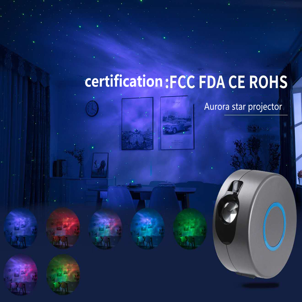 Star Projection Lamp 7 Color 3D Visual Lamp Led Laser Nebula Lamp Led Projector Small Night Lamp Romantic Scene Atmosphere Lamp