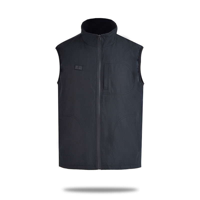 Electric Heating Double Control Vest Anti-Cold Warm Vest Unisex Outdoor Heating Stand Collar Vest Hot