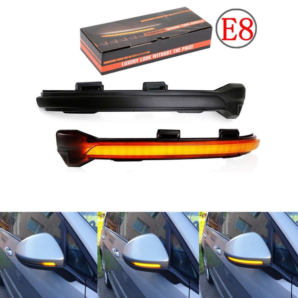 for VW Golf MK7 7 GTI R GTD Dynamic LED Turn Signal Light Rearview Mirror Indicator Blinker Repeater For Volkswagen Rline Touran