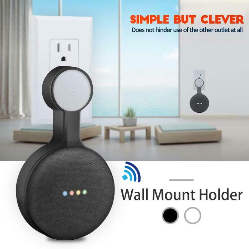 NEW Outlet Wall Mount Hanger Stand For Google Home Mini Voice Assistant US Plug Home Kitchen Bathroom Bedroom Speaker Holder