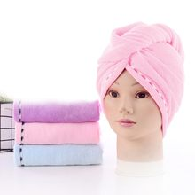 3 Piece Microfiber Bath Towel Hair Dry Quick Drying Lady Bath Towel Soft Shower Cap Hat For Lady Turban Head Wrap Bathing Tools(China)