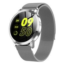 CF18 inteligentny zegarek dla mężczyzn wodoodporny IP67 ciśnienie krwi Tracker moda mężczyźni Sport wielu trybów sportowych SmartWatch kobiety zespół nadgarstek tanie tanio ZUIDID kolorowy wyświetlacz lcd Zgodna ze wszystkimi STAINLESS STEEL Krokomierz Rejestrator aktywności fizycznej Rejestrator snu