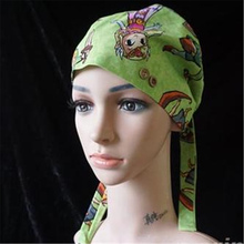 Alx-Printed surgical hat female doctor nurse operating room dental beauty salon working gourd male and women