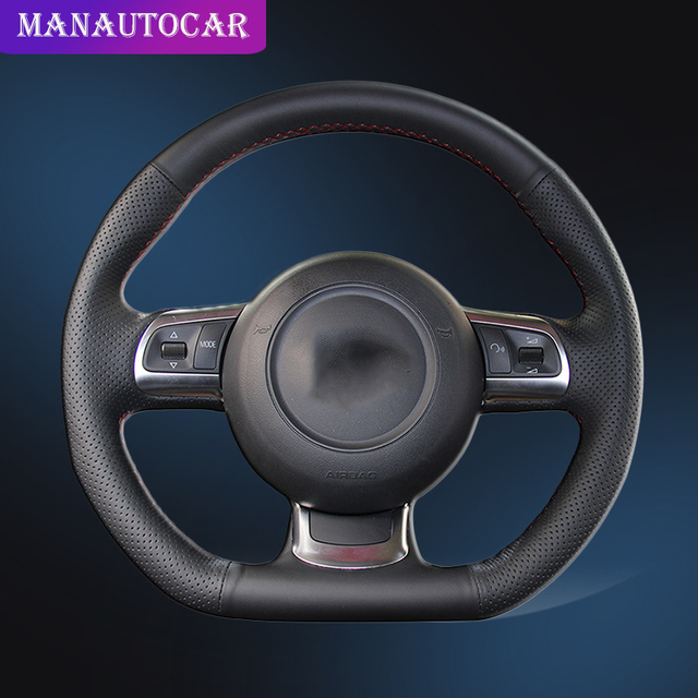 Auto Braid On The Steering Wheel Cover for Audi R8 2008 2010 TT 2008 2015 TTS 2009 2015 TT RS 2012 2013 Car Steering Wheel Cover