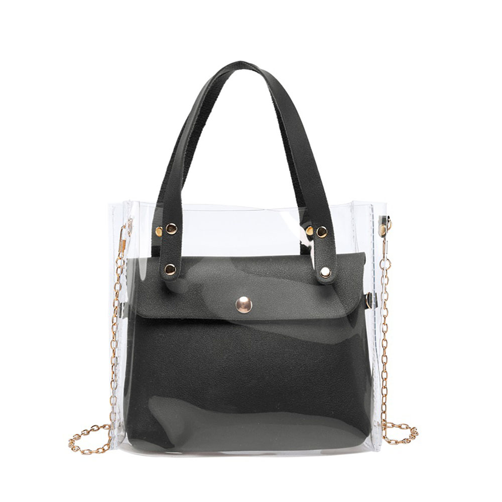 PU Leather Crossbody Bags For Women 2020 PVC Transparent Messenger Shoulder Bag Fashion Handbags Tote Bag Sac Main Femme сумка