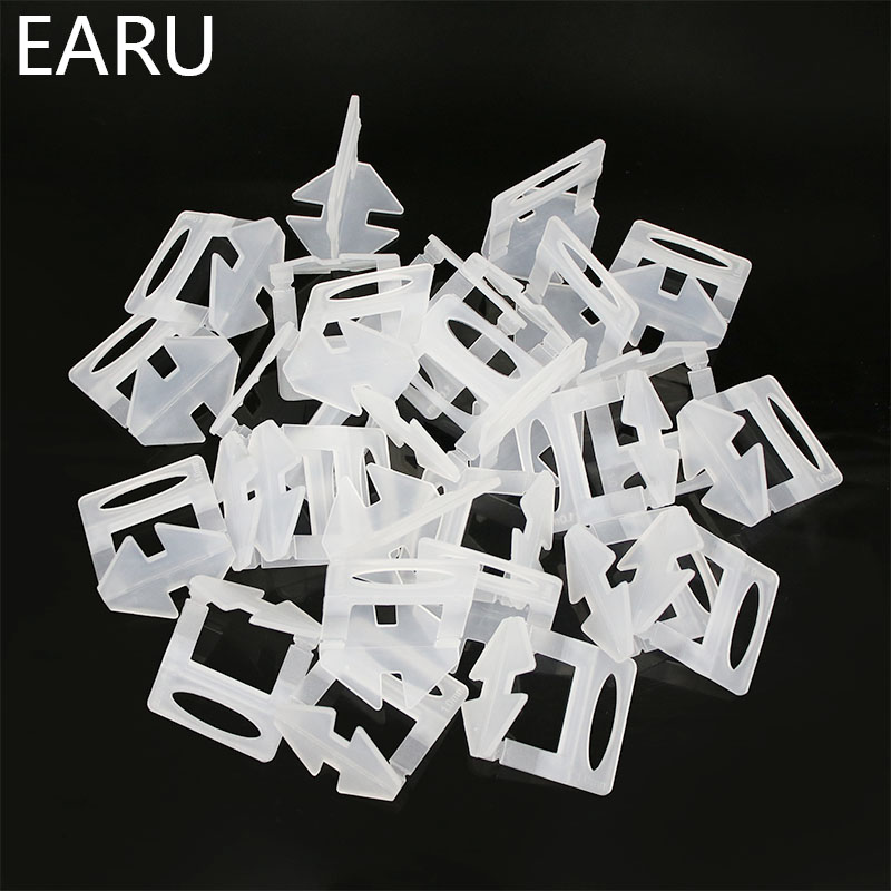 200pcs Ceramic Tile Leveling System Clips Kit Wall Floor Carrelage Tile Spacer Tiling Tool 1.0mm Wedges Leveler Locator DIY