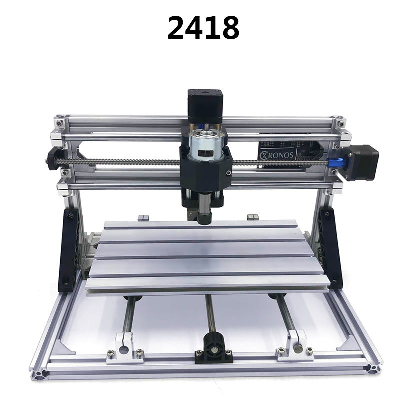 CNC 2418 with ER11 DIY Mini Laser Engraving Milling Machine PCB Milling Machine Wood Carving Router