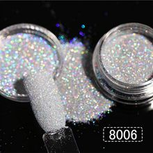 1Box 1g 8 Colors Nail Art Holographic Glitter Powder Shining Sugar Hot Sale Dust for Decorations