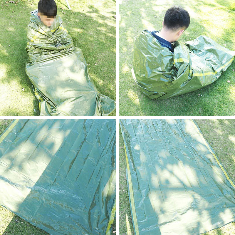 Emergency Sleeping Bag Manta Prueba Frio Mylar Blanket Lot Outdoor Waterproof Blanket Camping Cobijas Piece Rainsuit Cobijas