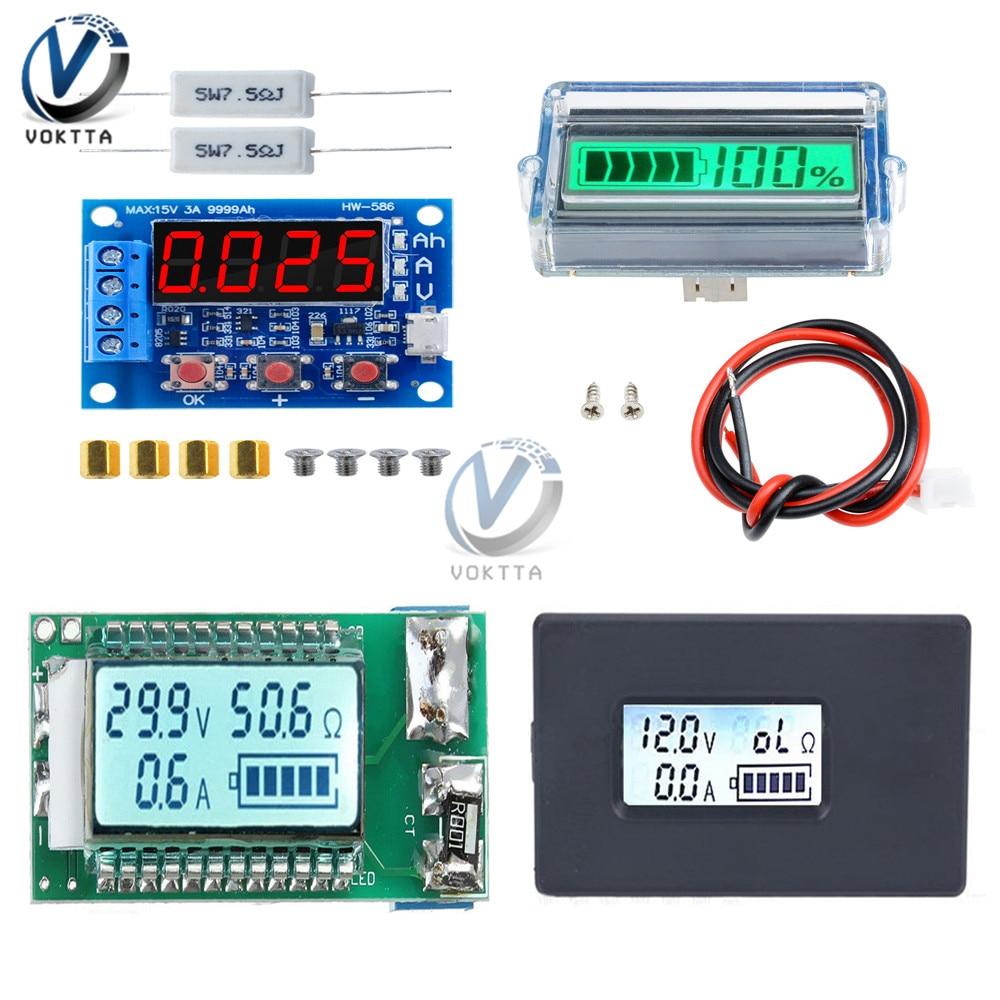 18650 литиевая батарея индикатор емкости тест er ЖК цифровой дисплей ZB2L3 батарея тест er Светодиодный источник питания Тест Амперметр Вольтметр Тестеры аккумуляторов      АлиЭкспресс