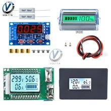 Visor lcd digital zb2l3 18650, testador de capacidade da bateria, fonte de alimentação, teste de amperímetro e voltímetro