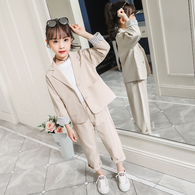 Kids Clothes Autumn Baby Girls 2Pcs Outfit Jacket and Pants Children Clothes Girls Long Sleeved Suit Toddler Girl Clothing Sets