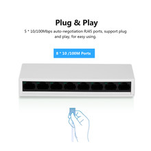 10/100Mbps Network Switch SW08 8-Port Switch Gigabit Ethernet Switch Splitter Home Office Max Power 2W US Plug(China)