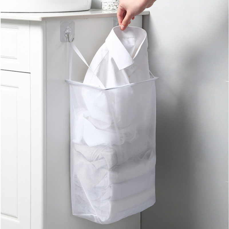 1PC Wall Hanging Laundry Basket Underwear Socks Storage Barrel Clothing Storage Bucket Laundry Organizer Holder Pouch Household