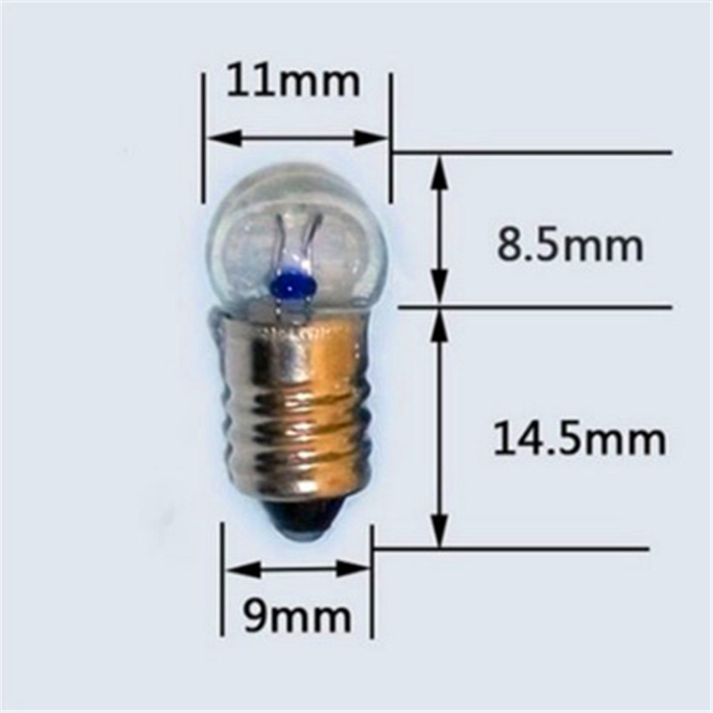 50 Pcs E10 1.5V2.5V3.8V0.3A 5.2V 6V 6.2V Electrical Experiment Bulb Screw Lamp Beads