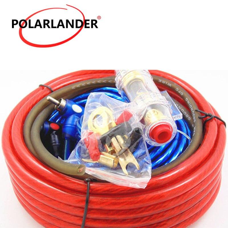 60 AMP portafusibles 8GA Cable de alimentación Subwoofer altavoz 1500W Cable de Audio del coche cableado amplificador Kit de instalación