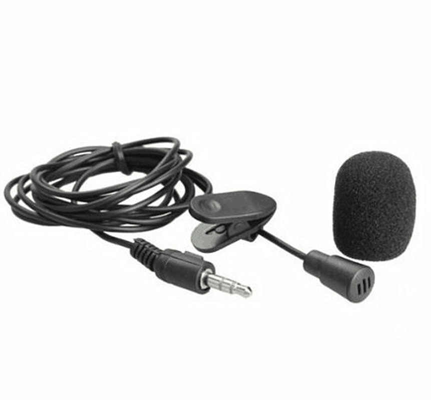 External 3.5mm Mini Lapel Extension Microphone Mic w//Clip For Voice Recorder