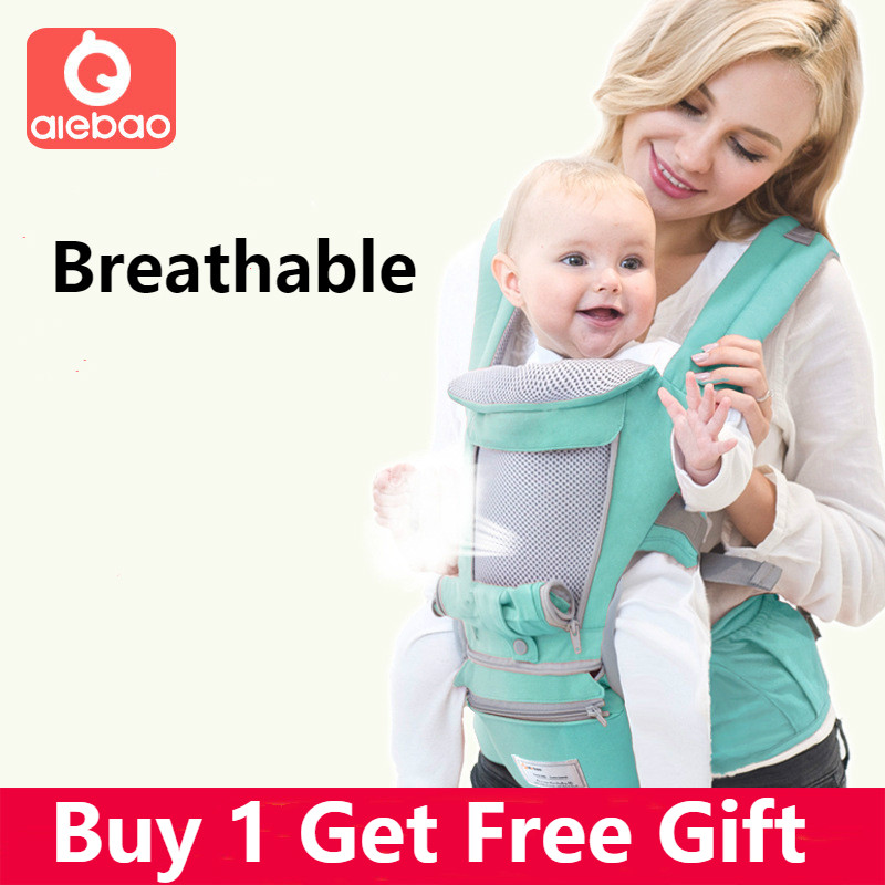 Aiebao Ergonomic New Baby Carrier Infant Kids Backpack Hipseat Sling Front Facing Kangaroo Baby Wrap For Baby Travel 0-36 Months