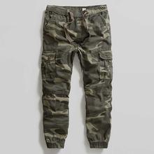 Мужские камуфляжные брюки карго в стиле милитари облегающие