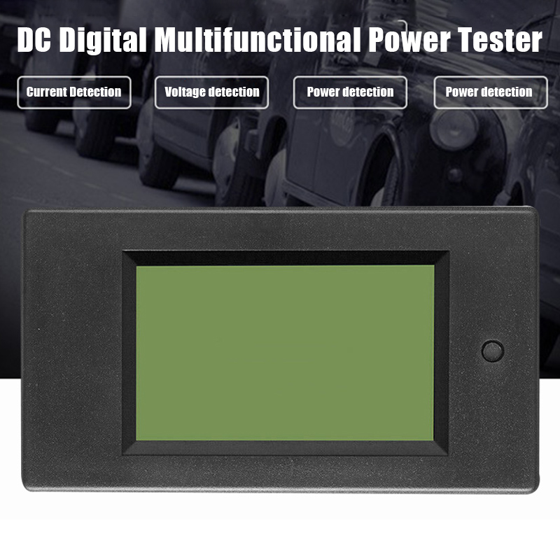 DC Digital Power Meter 6.5-100V LCD Voltage Current Watt Kwh Energy Meter Battery Testers PUO88