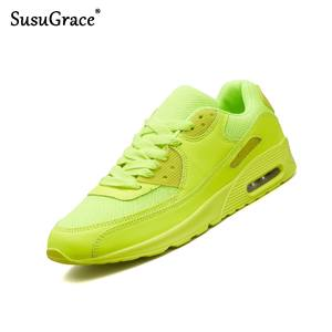 Adult Shoes Air-Cushion Men Sneakers Breathable Non-Slip Susugrace Outdoor Unisex Mesh