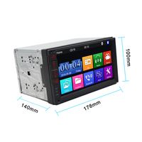 phone screen 7 inch 2 Din car audio Car Stereo Radio Player Mirror Link with android IOS phone Touch screen Bluetooth FM/MP5/USB autoradio (2)