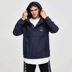 Image 5 - 虎力男性ジャケット春カジュアルジャケットパーカーフード付きジャケットサイドポケットコートヨーロッパサイズ