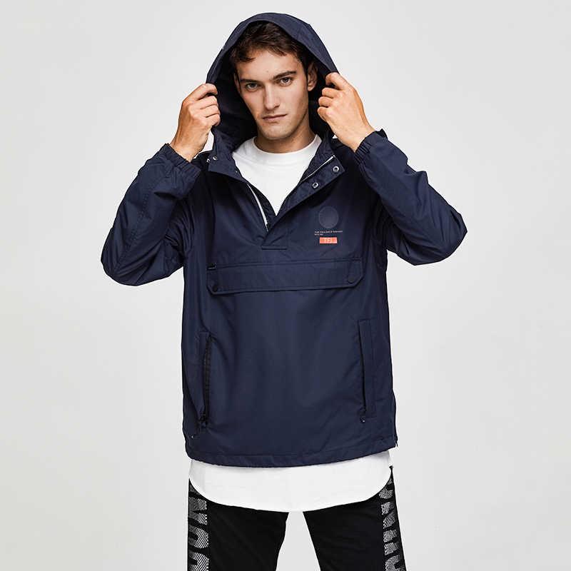 TIGER KRAFT Männer Jacke Frühling Casual Jacken Hoodie Mit Kapuze Jacke Seite Zipper Front Tasche Mantel Europäischen Größe