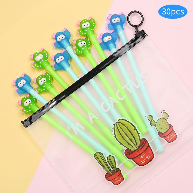 8Pcs Cute Cartoon Cactus plant Gel Pens Office School Student Supply Stationery
