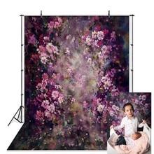 Neobackビニール新生児春イースター紫色の花さくらの写真の背景ファンタジー税関写真スタジオ背景小道具