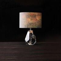 Luxus Kristall Led leuchten Tuch Tisch Lampe Schatten Art Deco Tisch Licht Für Die Schlafzimmer Nacht Hotel Studie Wohnzimmer schreibtisch Lampe-in LED-Tischleuchten aus Licht & Beleuchtung bei