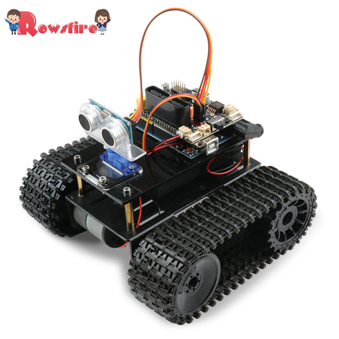 Hih Recommend 1 Set DIY Obstacle Avoidance Smart Programmable Robot Tank Educational Learning Kit  Toys Games