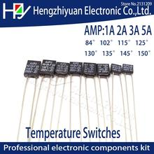 Black Square 1A 2A 3A 5A 250V Thermal Fuse Cutoff 84 102 115 125 130 135 145 150 C Degree LED Fuses Temperature Switches Control