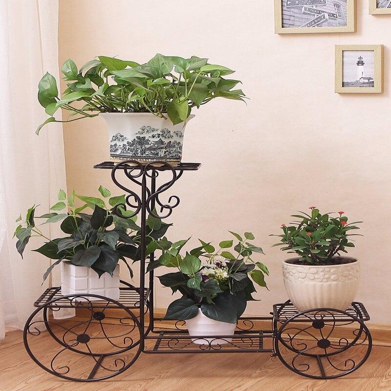 Multi-storey  Landing Flower Rack Shelf Type Household Indoor  Chlorophytum Flowerpot Frame