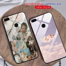 Anjos do bebê caso de telefone vidro para huawei p30 lite 20 por p9 10 companheiro 10 9 honra 8x9 10 nova 5 capa