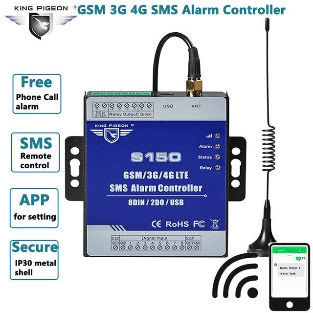 GSM 3G 4G komórkowy RTU SMS łącznik przekaźnikowy przemysłowe IoT zdalny Monitoring System wbudowany watchdog Alarm SMS jednostka S150
