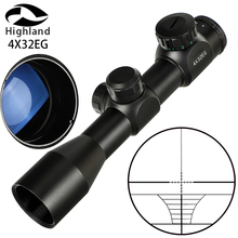 4x32EG Red Green Tactical Optical Sight Red Green Illuminated Rangefinder Reticle Riflescope Hunting Rifle Scope hunting riflescope tactical acog 4x32 real fiber source red illuminated rifle scope camouflage
