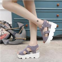 women sandals shoes woman summer new wedges and magic stick