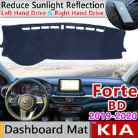 Pour KIA Forte 2019 2020 BD tapis anti-dérapant tableau de bord couverture Pad parasol Dashmat protéger tapis voiture accessoires Cerato K3 Vivaro