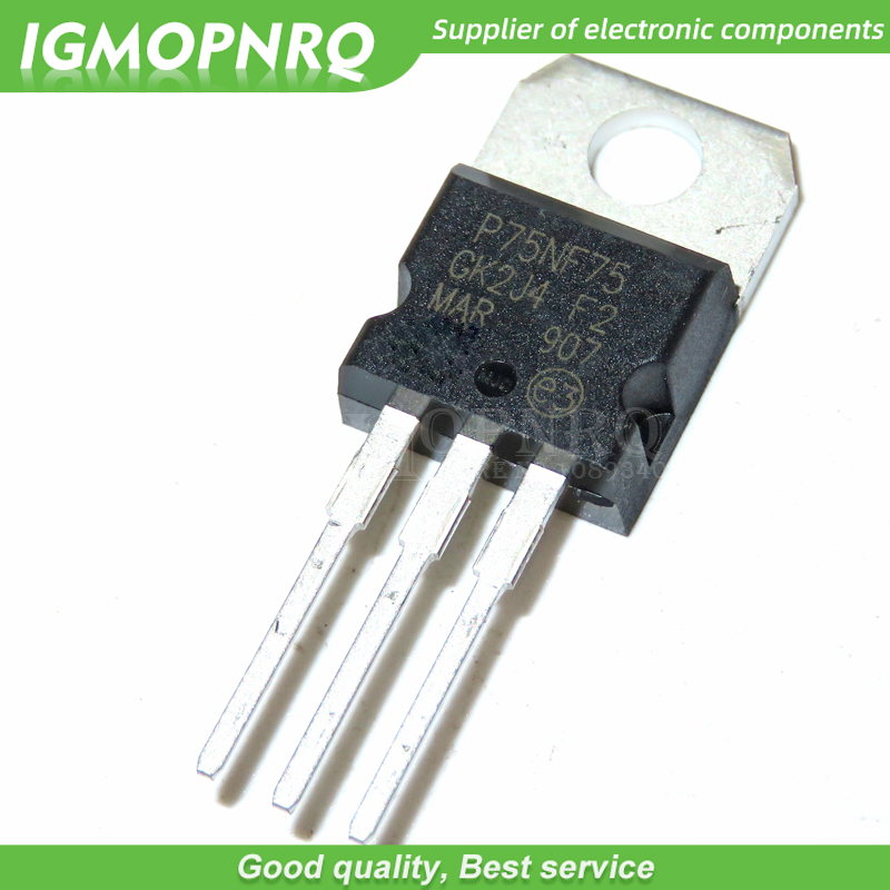 100pcs/lot <font><b>P75NF75</b></font> STP75NF75 FET 75NF75 motor controller DIP TO-220 new original image