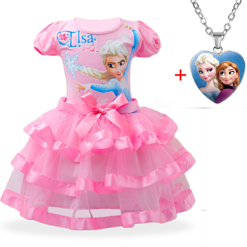 Girls Dress Elsa Dress Party Vestidos Cosplay Girl Clothing Anna Snow Queen Print Birthday Princess Dress Elza Kids Costume Set froz 2en cosplay costume snow girl elsa dress costume halloween cosplay elsa anna costume princess ice queen outfit full set