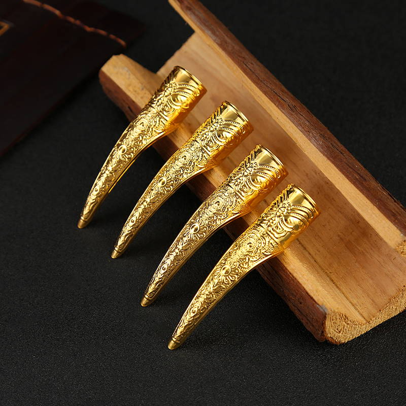 Classical-Nail Sets Palace Concubines Fake Long Nail Sets Finger Stall Armor Thick As Yi Chuan Yan Xi Attack Celebrity Style