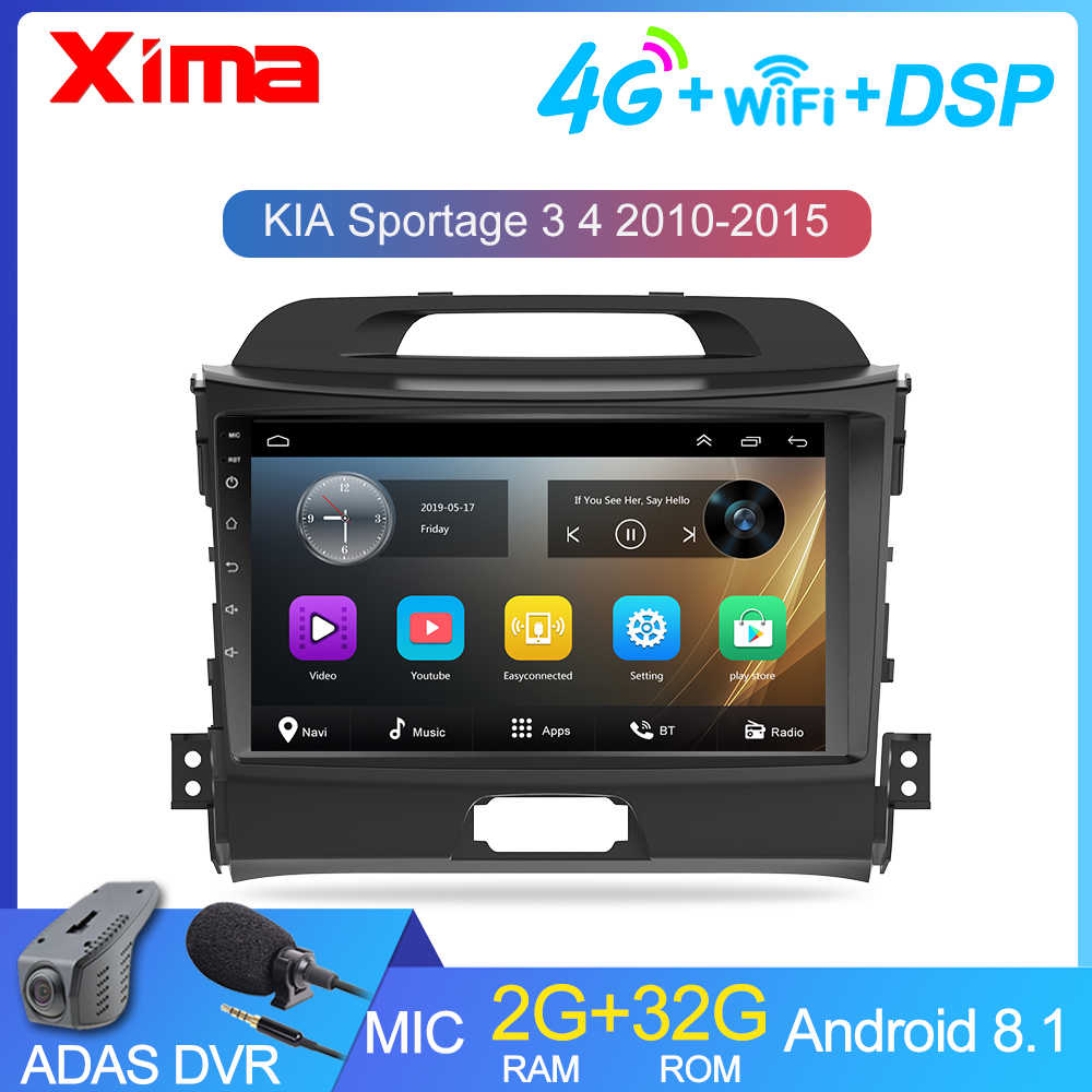 2Din Android 9,0 DSP auto Radio Multimedia Video Player navegación GPS para KIA Sportage 3 2010 2011-2016 coche receptor de radio